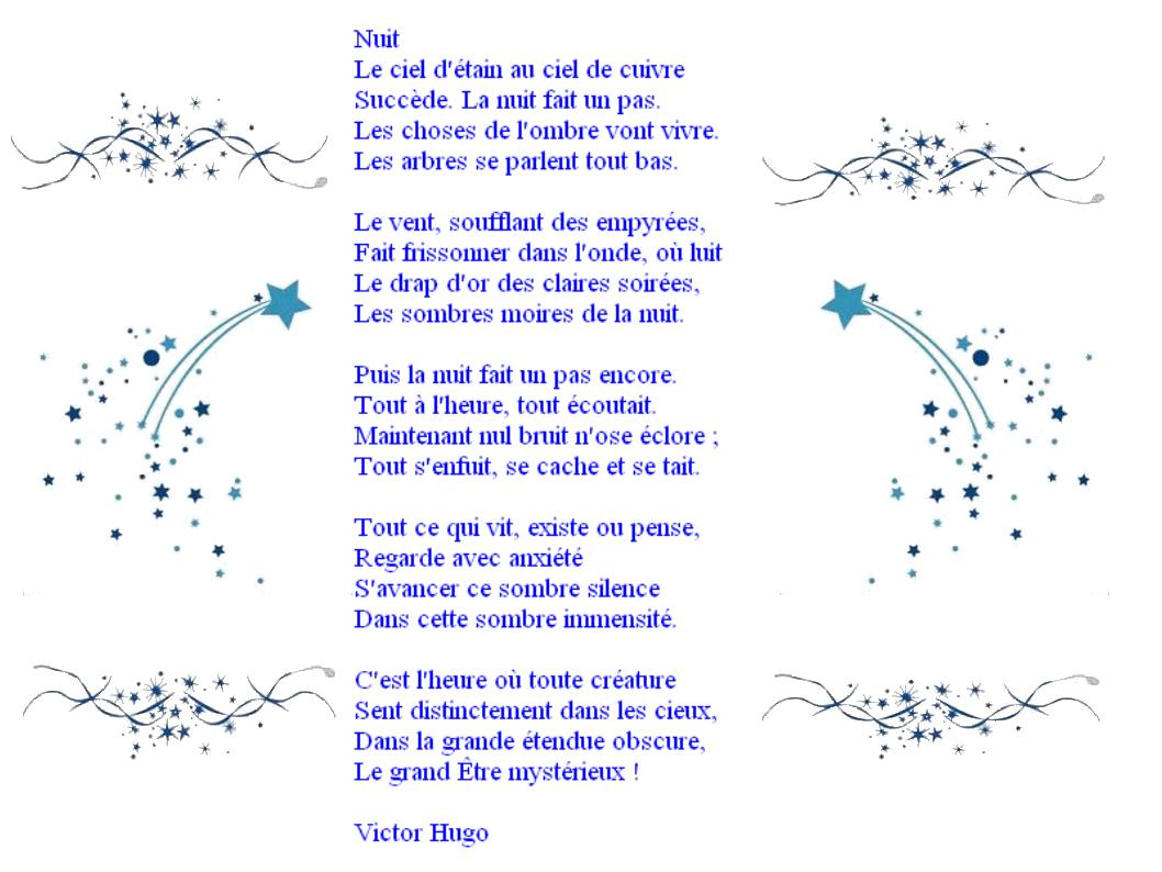 Poème De Victor Hugo
